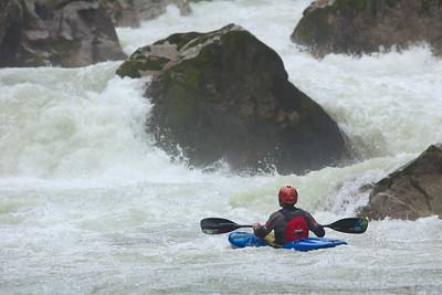 Eddy Mead on the Wellebrucke rapids.