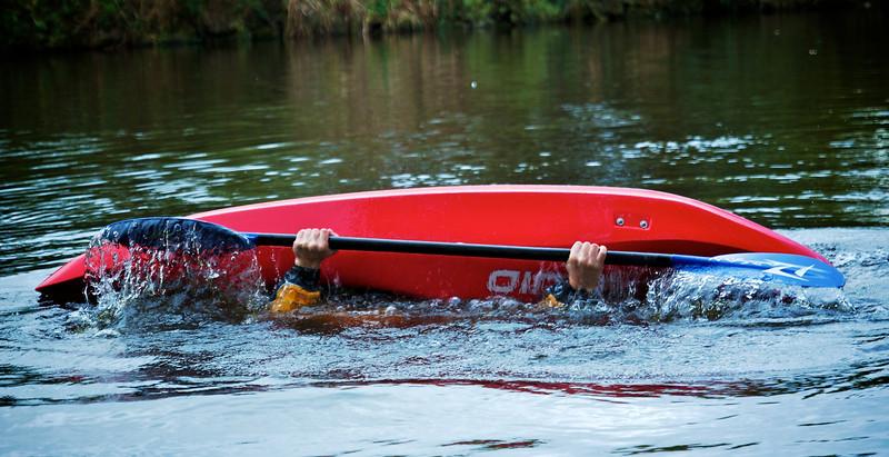 Kayak roll practice