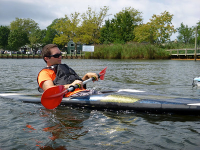 Kayaking down the Peconic Riverfront.