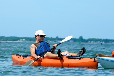 Kayaking with Mom and James off Red Creek Road.