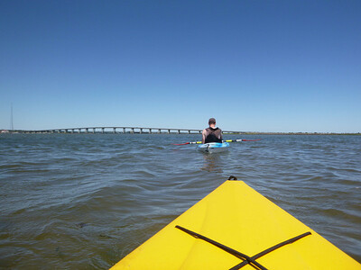 Kayaking with Chris off Road K, Hampton Bays.