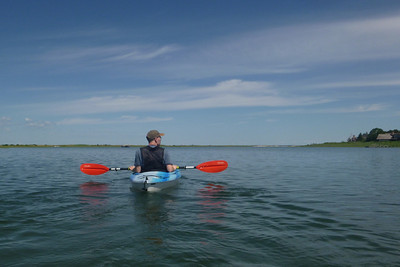 Kayaking on Sebonac Creek.