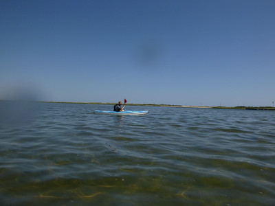 Kayaking off Tiana Beach (bay side), Hampton Bays, NY.