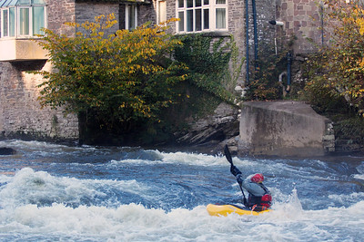Whitewater Kayaking on the River Usk.