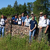 Our team at an entrance to old farmstead, at at least eighty years old wall.
