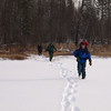 """We are taking """"Kubik"""" short cut and advantage of easy travel over frozen pond."""