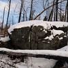 One of several massive rocks along the Kek Trail.