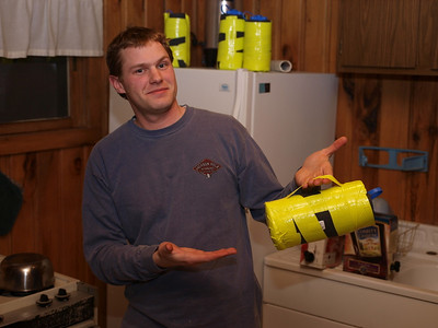 For DIY buffs, here is a home made bottle insulator.  Luke made one from ensolite pad and duct tape.  This one even has a carrying handle.