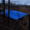"""I stopped at dusk and set up my brand new Cooke Custom Sewing 10 x10 foot tarp   <a href=""""http://www.cookecustomsewing.com/"""">http://www.cookecustomsewing.com/</a>).  Unlike tents, tarps don't have condensation problems and it is safe to start a stove underneath."""