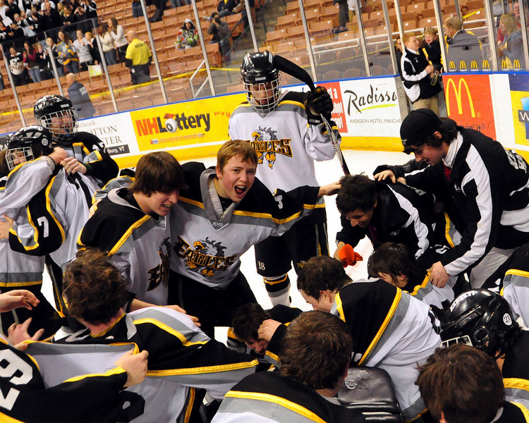 The Kennett High School Eagles defeated the Bedford Bulldogs, 2-1, at the Verizon Wireless Arena, in Manchester, NH, and won the 2009-2010 NHIAA Division 3 Boys Ice Hockey Championship, on March 13th, 2010.