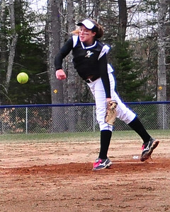 Kennett High School senior Whitney Roberts pitched a perfect game, as the Eagles defeated visiting Berlin High School, 3-0, on April 25th, 2011, in Redstone.