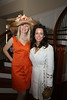 Sara Herbert-Galloway and Tracey Blue at private party before the Oaks