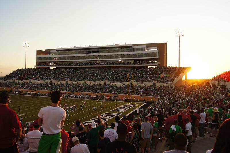 Sunset at Apogee Stadium - Denton, TX