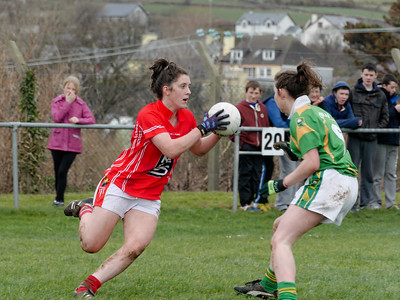 Kerry and Cork Ladies Football in Dingle