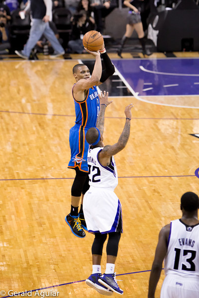 Westbrook going up for a jumper.  I am impressed with Westbrook's vertical leap and his focus on the rim.