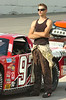 Zeke Shell, currently third in the points (LMSC) waits for the word to get in his #97 for qualifying. Photo by Ned Jilton II
