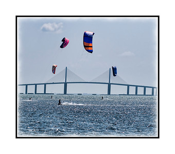 Kite Boarding on Tampa Bay