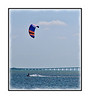 Kite boarding on Tampa Bay; view in the largest sizes to see the detail.