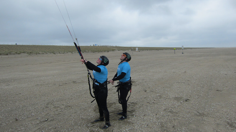 Second lesson: controlling power moves with the kite