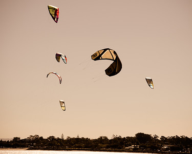 "Alternate Processing: ""Matt's Summer Haze 2"" - Afternoon Kiteboarding; Woody Point, Redcliffe, Queensland, Australia; 18 August 2012. Photos by Des Thureson - http://disci.smugmug.com."