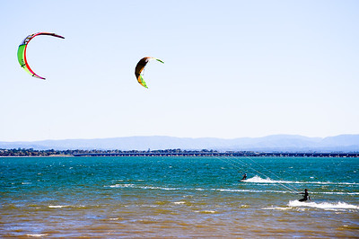 "Alternate Processing: ""Creative - Direct Positive"" - Afternoon Kiteboarding; Woody Point, Redcliffe, Queensland, Australia; 18 August 2012. Photos by Des Thureson - http://disci.smugmug.com."