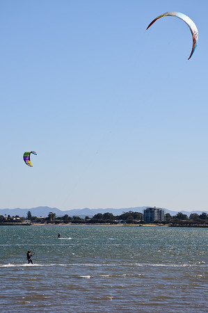 Kiteboarding at Woody Point, Redcliffe, on a beautiful Winter's afternoon. Photos by Des Thureson - http://disci.smugmug.com