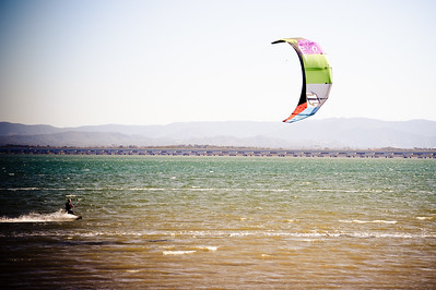 "Alternate Processing: ""PH Surreal Moment"" - Afternoon Kiteboarding; Woody Point, Redcliffe, Queensland, Australia; 18 August 2012. Photos by Des Thureson - http://disci.smugmug.com."
