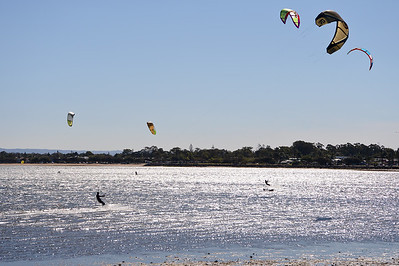Afternoon Kiteboarding; Woody Point, Redcliffe, Queensland, Australia; 18 August 2012. Photos by Des Thureson - http://disci.smugmug.com.