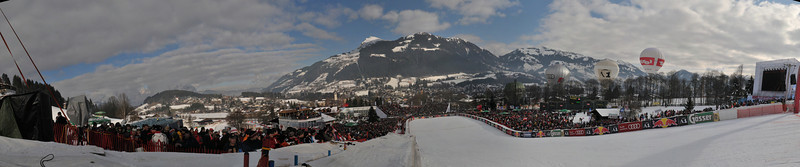 180 degree panorama of the finish area