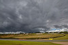 Heavy Rain Clouds Gather over Knockhill Racing Circuit - 12 August 2017
