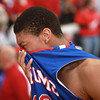 3-15-14<br /> Kokomo Regional Game against Homestead<br /> Kokomo's Demarius Warren gets emotional after the loss to Homestead in the Regional Tournament game on Saturday.<br /> KT photo | Kelly Lafferty