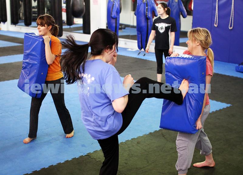 11-6-12. Krav Maga  women's session. Photo: Peter Haskin