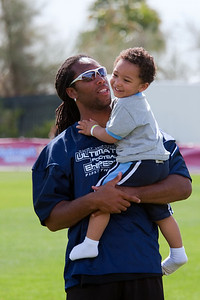 Larry Fitzgerald and his son.