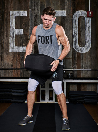 Oct. 22, 2017- - New York New York Fitness photoshoot at Fortitude Strength Club NYC  Kyle Fields (Fortitude Strength)  Photographer- Robert Altman Credit: Robert Altman