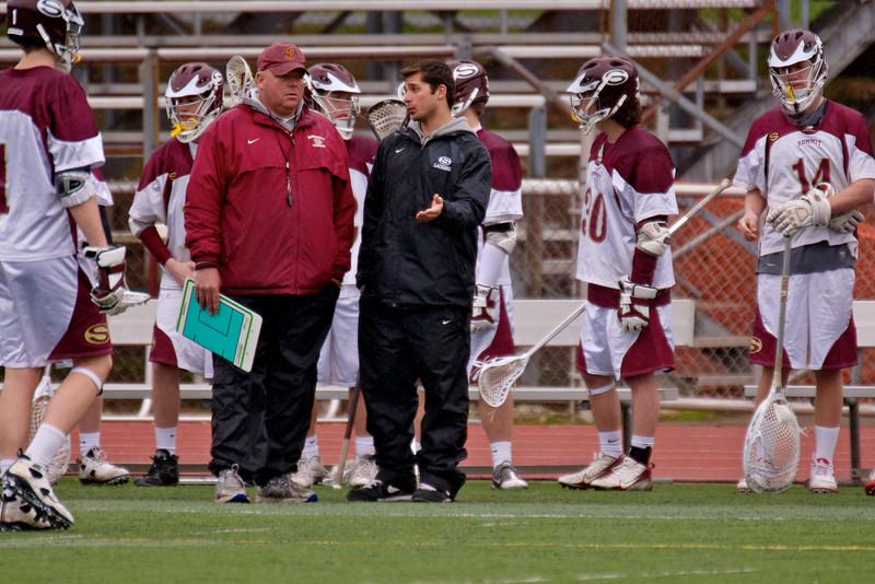 Coach Kirst w Coach Alpazar  game vs Westfield 2011
