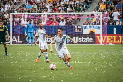 Robbie Keane looking for the goal.