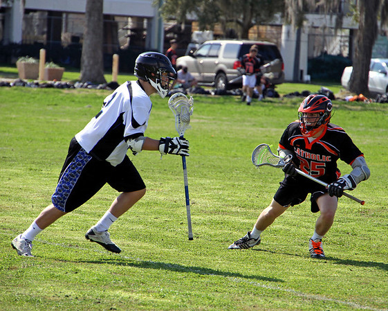 2011 LOUISIANA HIGH SCHOOL LACROSSE LEAGUE: Catholic High of Baton Rouge vs. Mandeville at the Louisiana Maritime Museum in Madisonville.  Catholic High wins.