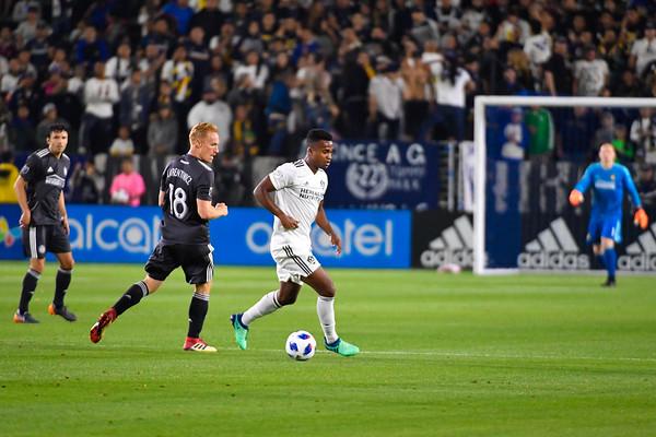 Los Angeles Galaxy loses the game against Atlanta United FC at the StubHub Center on Saturday April 21st, 2018 in Carson, California. LAvsATL