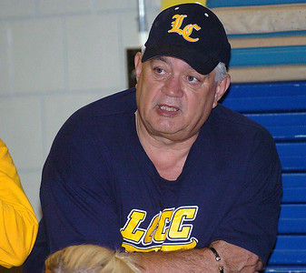 LCCC Softball coach Dave Moore talks to his team.