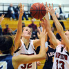 20120103_Fairview_Legacy_WBBall_2.jpg Fairview's Georgina Ryder, center, battles for the rebound during the second quarter of their Tuesday, January 3, 2012 game against Legacy hosted by the Knights. (Kira Horvath/Daily Camera)