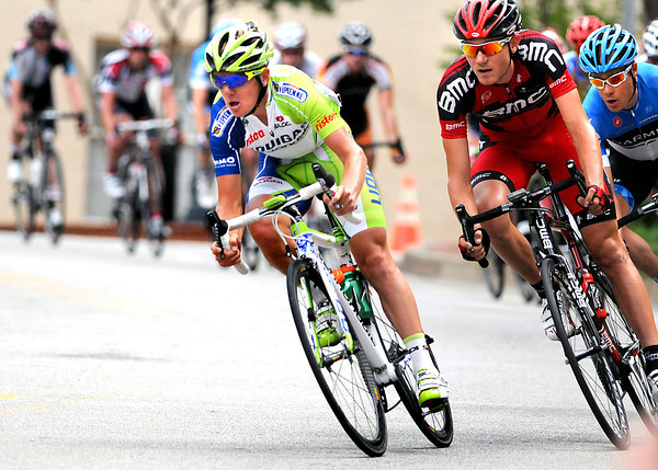 AP120528129873x.jpg May 28, 2012: Timmy Duggan (green) on his way to a gold medal in the 2012 U.S. Pro Cycling Championships, Greenville, SC. (Cal Sport Media via AP Images)<br /> olympics