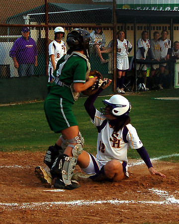 LOUISIANA HIGH SCHOOL SOFTBALL 2009: Eunice High vs. Sam Houston of Moss Bluff.  Sam Houston wins.