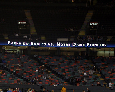 LOUISIANA HIGH SCHOOL FOOTBALL 2009:  LHSAA CLASS 3A STATE CHAMPIONSHIP @ THE LOUISIANA SUPERDOME.  Notre Dame of Acadia Parish vs.Parkview Baptist of Baton Rouge.  Notre Dame wins