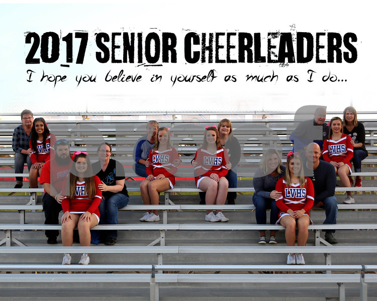 LV Cheerleader Collage 8 x 10