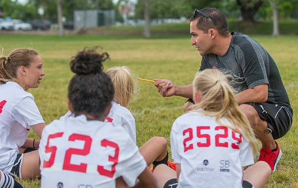 La Roca coach Pancho Ovalle gets his team ready for the up coming season. The team hosts Soccer tryouts for La Roca program that is based in Northern Utah that is now an academy. At Ellison Park in Layton on Thursday June 2, 2017.