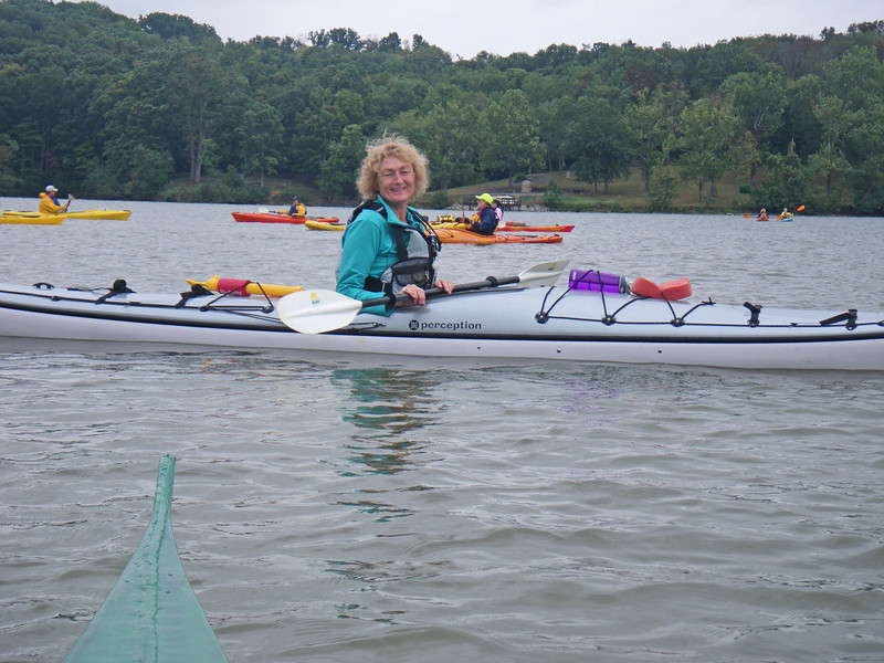 Trip leader Penny heads up her first event for Cincypaddlers.