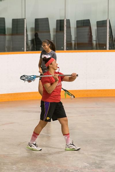 Lacrosse workshop at the Moosonee Arena. Mekwan Tulpin.