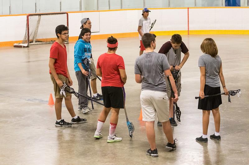 Lacrosse workshop at the Moosonee Arena.