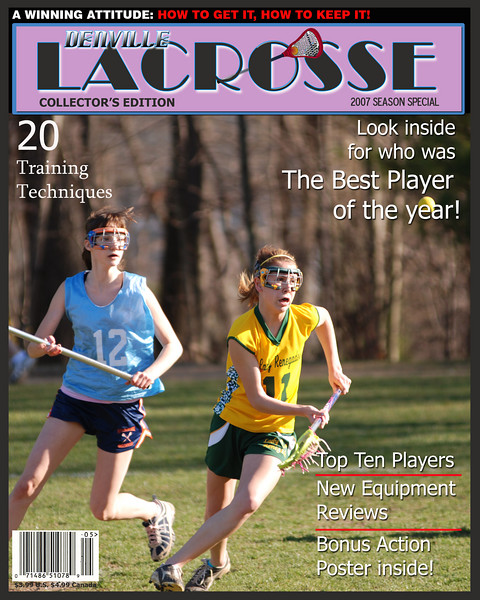 Sample of a magazine cover created from a photo from a game. Any photo can be used with any wording or names inserted. These are sized to 8x10, perfect for framing.