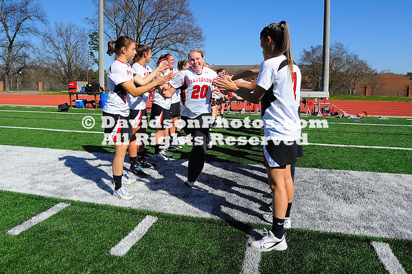 10 March 2012: The Davidson women's lacrosse team, in the midst of a six-game homestand, improved its record with a 13-12 win over the Siena Saints on Saturday afternoon at Richardson Stadium in Davidson, North Carolina.